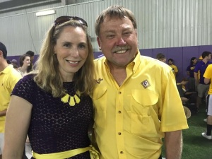 With Director Roy King at the Golden Band from Tigerland practice!